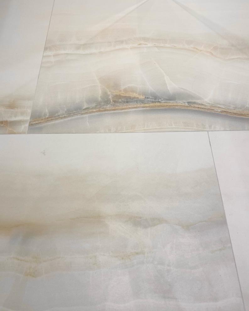 płytki wielkoformatowe, spiek kwarcowy w naturalnym kolorze